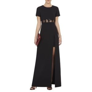 BCBGMAXAZRIA Haylee T-Shirt Overlay Gown Black 6